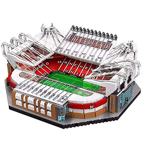 Building Blocks—Famous Football Stadiums Building Kit Manchester United—Old Trafford Stadium 3D Puzzle, 3900 Pcs Building Blocks Model, 14 Years Old Over Boys And Girls Building Blocks (47*39*18Cm)