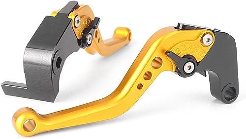 lowest Mallofusa CNC Pair Motorcycle Short online sale Brake Clutch Lever for Suzuki 2009-2013 GSXR1000 & 2021 Suzuki 2011-2013 GSXR600 GSXR750 Yellow outlet online sale