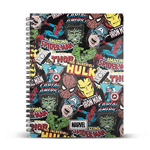 Marvel Art-Cuaderno Papel Cuadriculado DIN A4