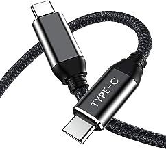 Cable USB C a USB C 2m, Cable USB Type C 3A 60W Carga Rápida - Cable USB C a C PD Nylon Trenzado para Samsung Galaxy S20 S20 + S20 Ultra Note 10, Google Pixel 3 2 XL, Nintendo Switch, iPad pro, ect