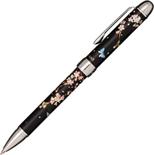 セーラー万年筆 多機能ペン 2色+シャープ 優美蒔絵 枝垂桜 ブラック 16-0344-220