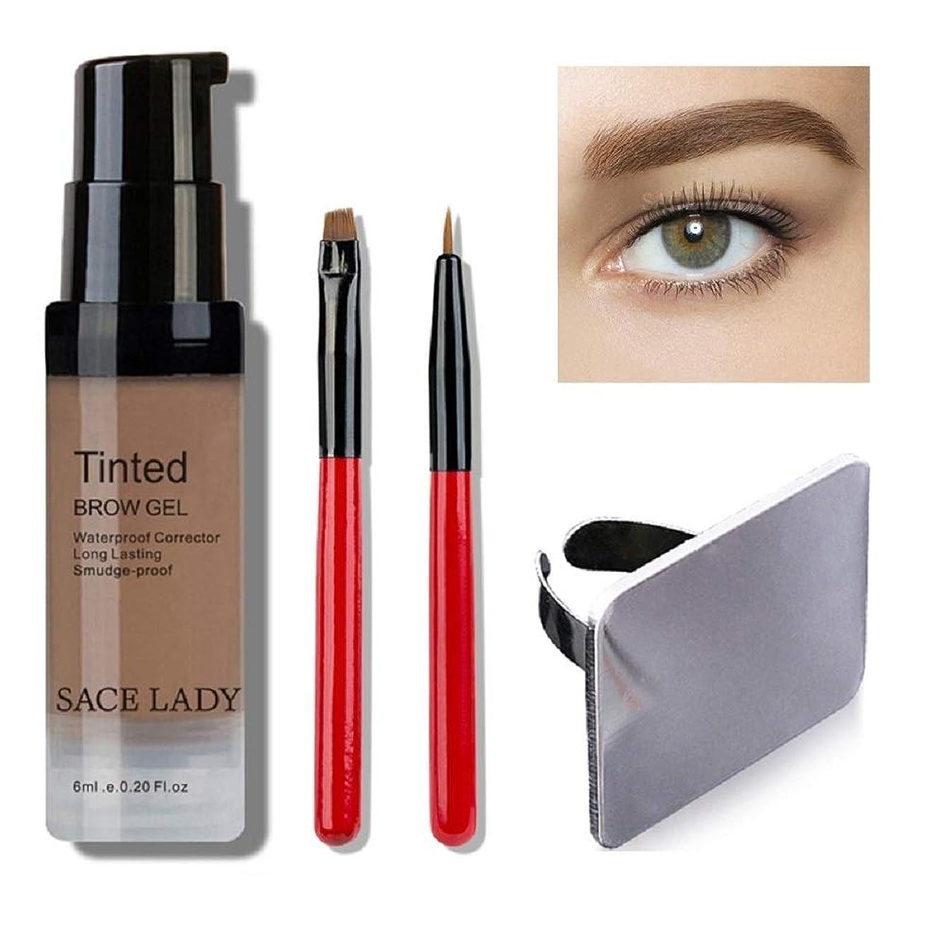 専門古い長方形Waterproof Eyebrow Shadow Henna Makeup Enhancer Tint Brush Kit Eye Brow Gel Cream Make Up Set Paint Tool Wax Cosmetic (Light Brown) 防水眉毛シャドウヘナメイクアップエンハンサティントブラシキットアイブロジェルクリームメイクアップペイントツールワックス化粧品(ライトブラウン)
