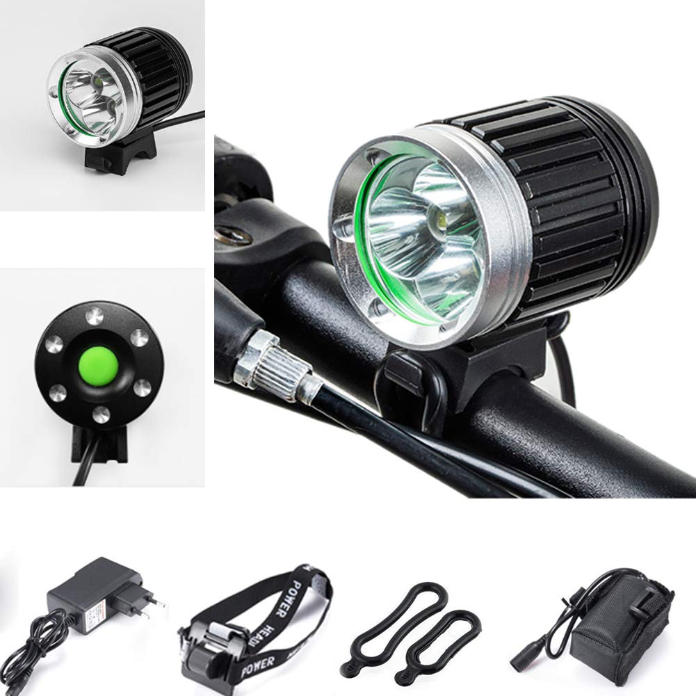 Bici Faros Delanteros IPX6 CREE XM-L 3*T6 LED Faro Bicicleta con ...
