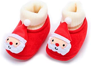 Sunward 0-18 Months Newborn Toddler Baby Christmas Deer Cartoon Warm Soft Sole Boot Casual Shoes