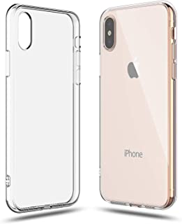 SHAMO'S Case for iPhone Xs Max Clear Cover Shock Absorption TPU Rubber Gel Soft Transparent with Smudge-Free Technology