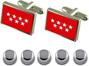 Select Gifts Shirt Dress Studs Madrid Flag Cufflinks