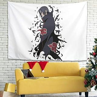 Hothotvery Tapiz japonés Itachi, cuervos Shippuden impreso, respetuoso con la piel, decoración para el dormitorio, 200 x 1...