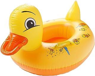 Clerfy Acc Anillo de Natación para Bebé, Barco Flotador de Bebé Pato Amarillo Inflable de La Piscina Juguetes para Niños de Color Llamativo