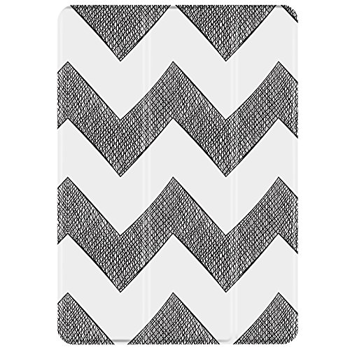 TNP iPad Mini 1/2/3 Case - Slim Lightweight Shell Smart Cover Stand, Hard Back Protection with Auto Sleep Wake for Apple iPad Mini 1/2/3 (Chevron)