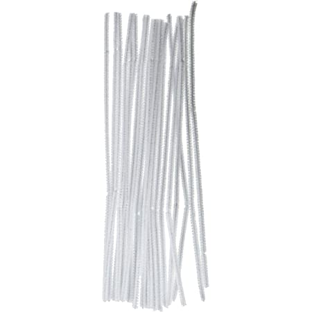 """DIY Craft Projects Pipe Cleaners Easy to Bend to Create Shapes Objects Great for Kids 100pc Home and More 6mm x 12/"""" Long Classrooms Black CalCastle Craft Chenille Tinsel Stems"""