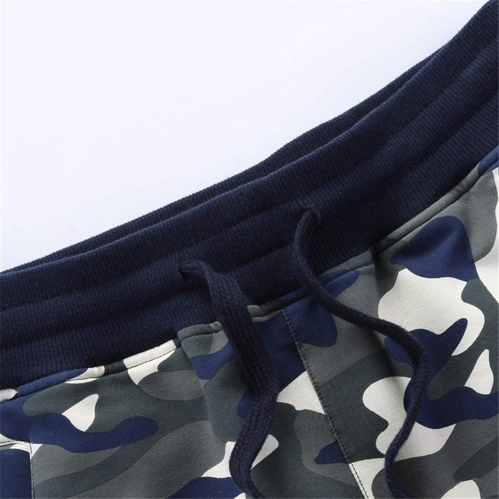 DHTOMC Mannen Sportbroek Casual Shorts Plus Size Camouflage-broek Gebreide elastische losse panty fitness joggen en training sportbroek A