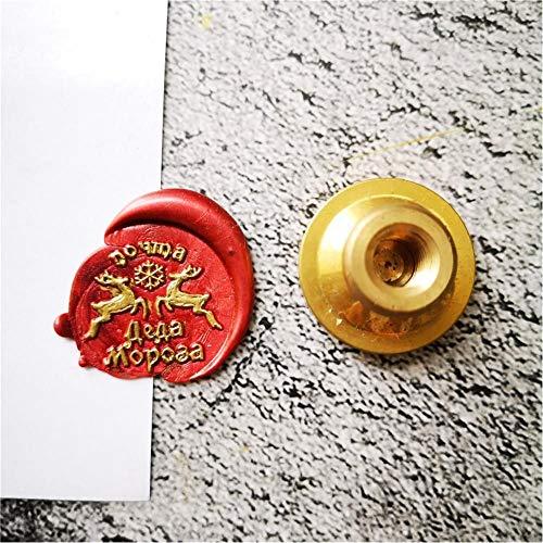 SDFDF 1 Pieza De Sello De Cera De Copos De Nieve De Árbol De Papá Noel Retro Antiguo Sellado Sellos De Álbum De Recortes Cabeza Invitación Decorativa De Boda