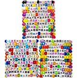 kandi bar Mega Pack Rave Bracelets (36-Pack) | handmade PLUR accessory for EDM music festival outfits | Wear stylish colors & authentic phrases for Women, Men, & nb | every pack is unique | EXPLICIT