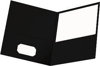 oxford red leatherette pocket folder