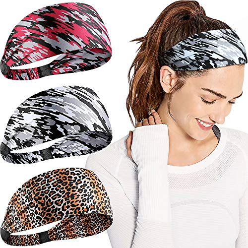 PHICHY Original Sweat Bands Workout Headbands for Women Non-Slip Head Bands for Women Hair Suitable for Workout, Yoga, Running, Sports and Daily.