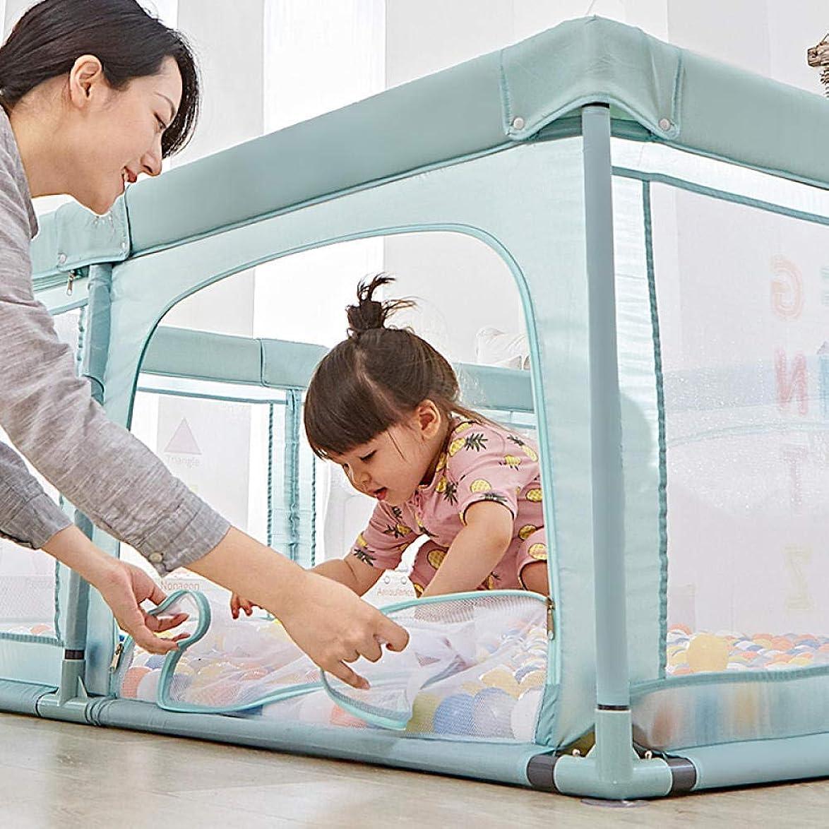 降雨マインドフルふさわしいポータブル赤ちゃんベビーサークルフェンス長方形子供安全フェンスママと150 * 180 * 68 cmのために作られた通気性メッシュベビーサークル幼児