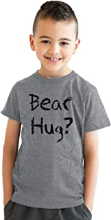 Youth Grizzly Bear T Shirt Funny Bear Hug Shirt Humorous T Shirt Novelty Tees