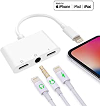 Norola Compatible with iPhone X iPhone Xs/Xs Max iPhone 8/8 Plus iPhone 7/7 Plus 3 in 1 Headphone Splitter with 3.5mm Jack Audio Adapter Quick Charge Splitter