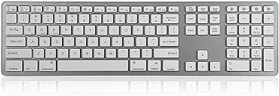 Renaisi Tastatur Kabellose Tastatur  universelle kabellose Bluetooth-Multipairing-Tastatur mit 104 Tasten for PC Laptop Tablet Computer Desktop PC Laptop Oberfl che Smart-TV und Windows 10 8