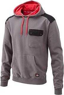 Lee Cooper Men's Panelled Hoodie Sweat Shirt - Grey, Medium