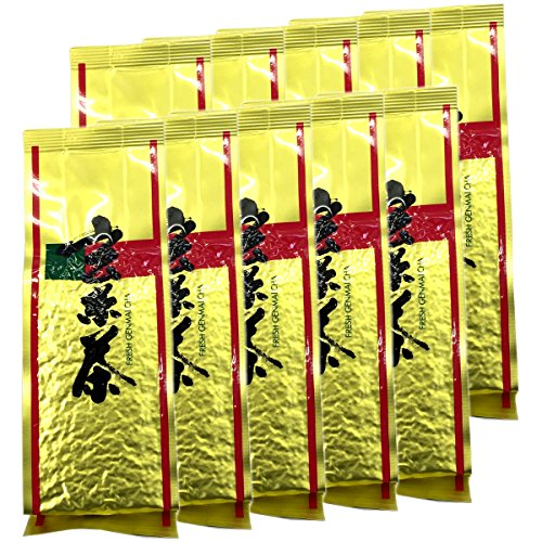玄米茶 国産 お茶 茶葉 黒豆入り玄米茶200g×10袋セット