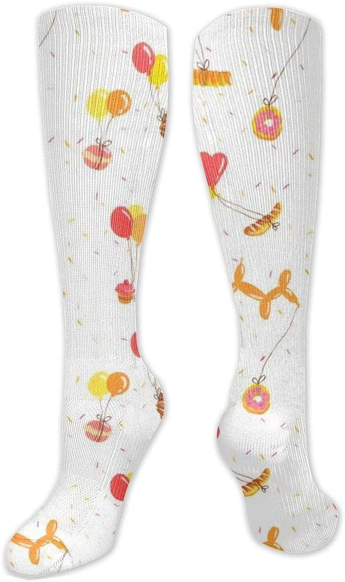 Balloon Food Knee High Socks Leg Warmer Dresses Long Boot Stockings For Womens Cosplay Daily Wear