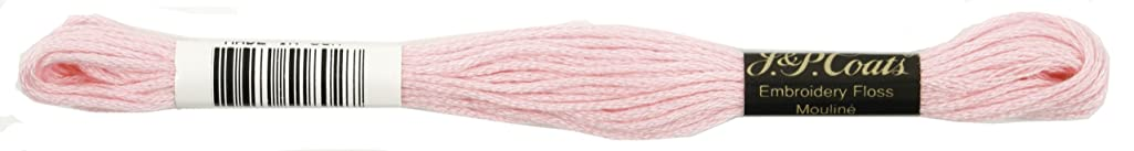 Coats Crochet 6-Strand Embroidery Floss, Very Light Dusty Rose, 24-Pack