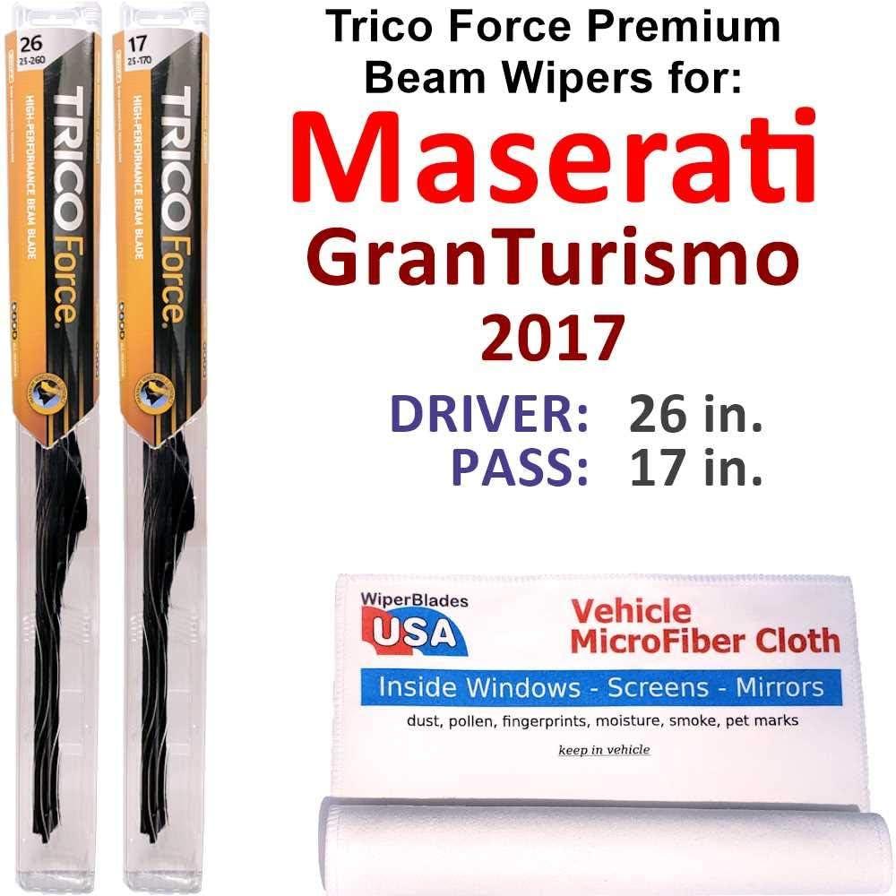 品質検査済 Premium 売店 Beam Wiper Blades for GranTurismo 2017 Maserati Set Tric