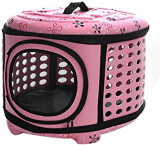Pet Travel Bag Outdoor Tote for Small Cats & Dogs S-L(Pink)