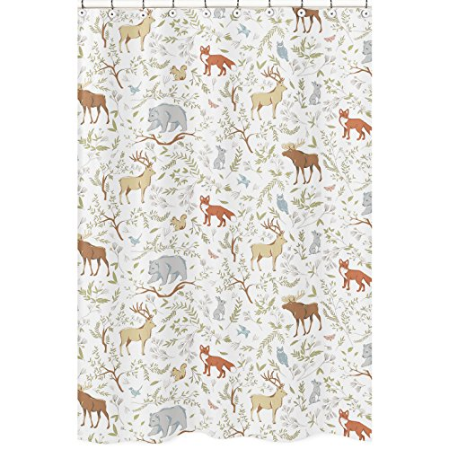 Sweet Jojo Designs Blue, Grey and White Woodland Deer Fox...