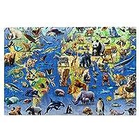 1000ピース ジグソーパズル 動物の集まり パンダ 地球 ジグソーパズル 木製パズル Puzzles 50x75cm(6歳以上が適しています)