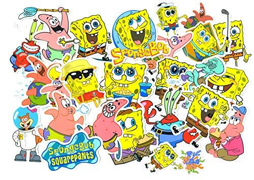 SetProducts Top Aufkleber ! Set von 99 Spongebob Schwammkopf Aufkleber Premium Qualität - Vinyls Stickers Nicht Vulgär – Sponge Bob und Freund - Anpassung Laptop, Gepäck, Moto, Fahrrad, Skate