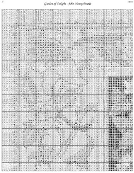 Scarlet Quince DEA002lg Garden of Delight by John Henry Dearle Counted Cross Stitch Chart Large Size Symbols