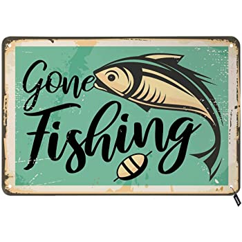 Had to Call in Sick,My Arm was in A Cast,Tin Metal Wall Decoration Call in Sick, 8x12 Inches 20x30 cm Thick Tinplate Wall Art Sign for Fishing Grounds//Yachts