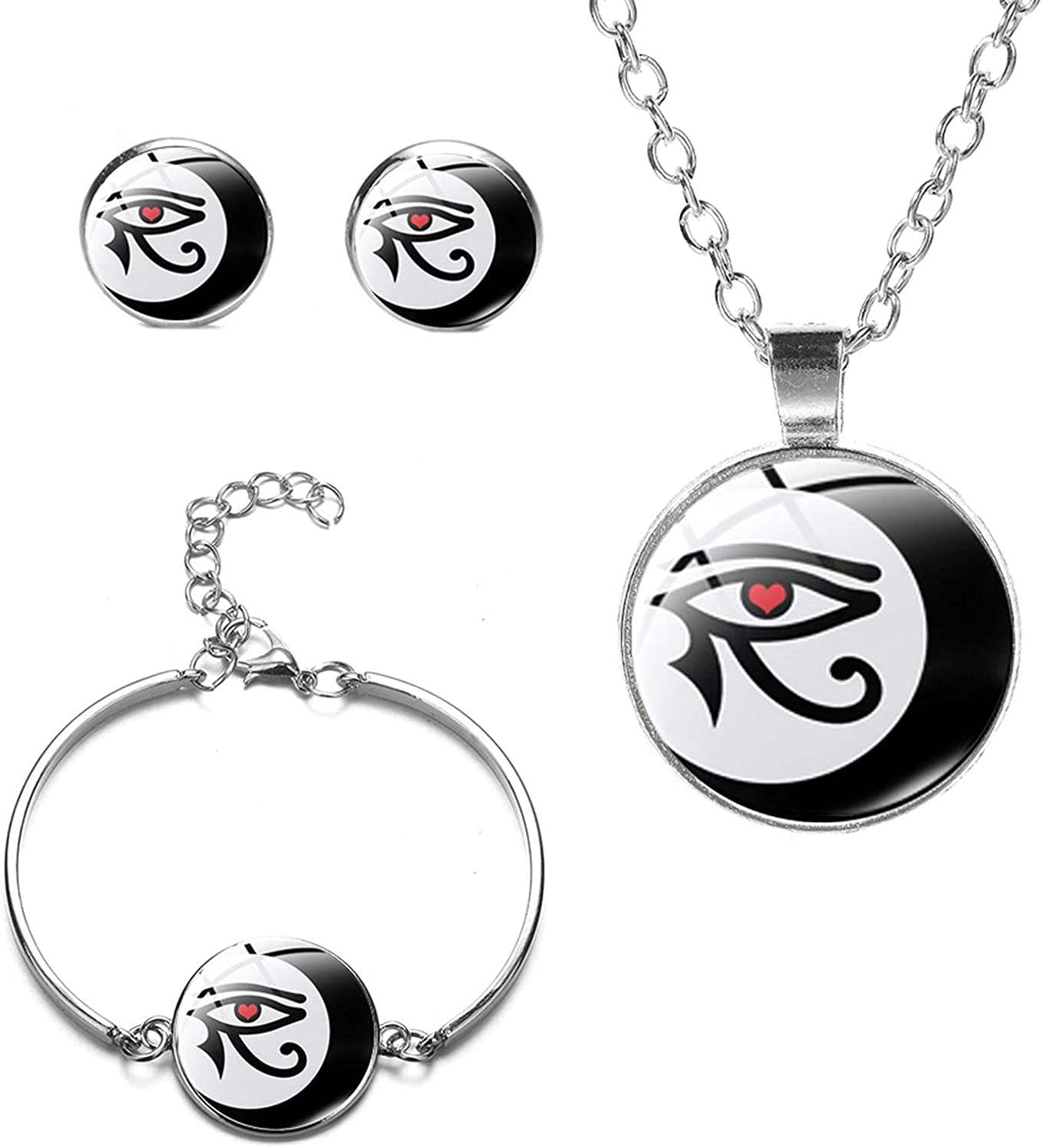 Ancient Egyptian Horus Eye Jewelry Egypt Max 89% OFF Rune Set Glass Evil Free shipping anywhere in the nation