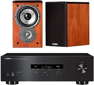 Yamaha R-S202 Stereo Receiver Bundle with Polk TSi100 2-Way Bookshelf Speakers with 5-1/4