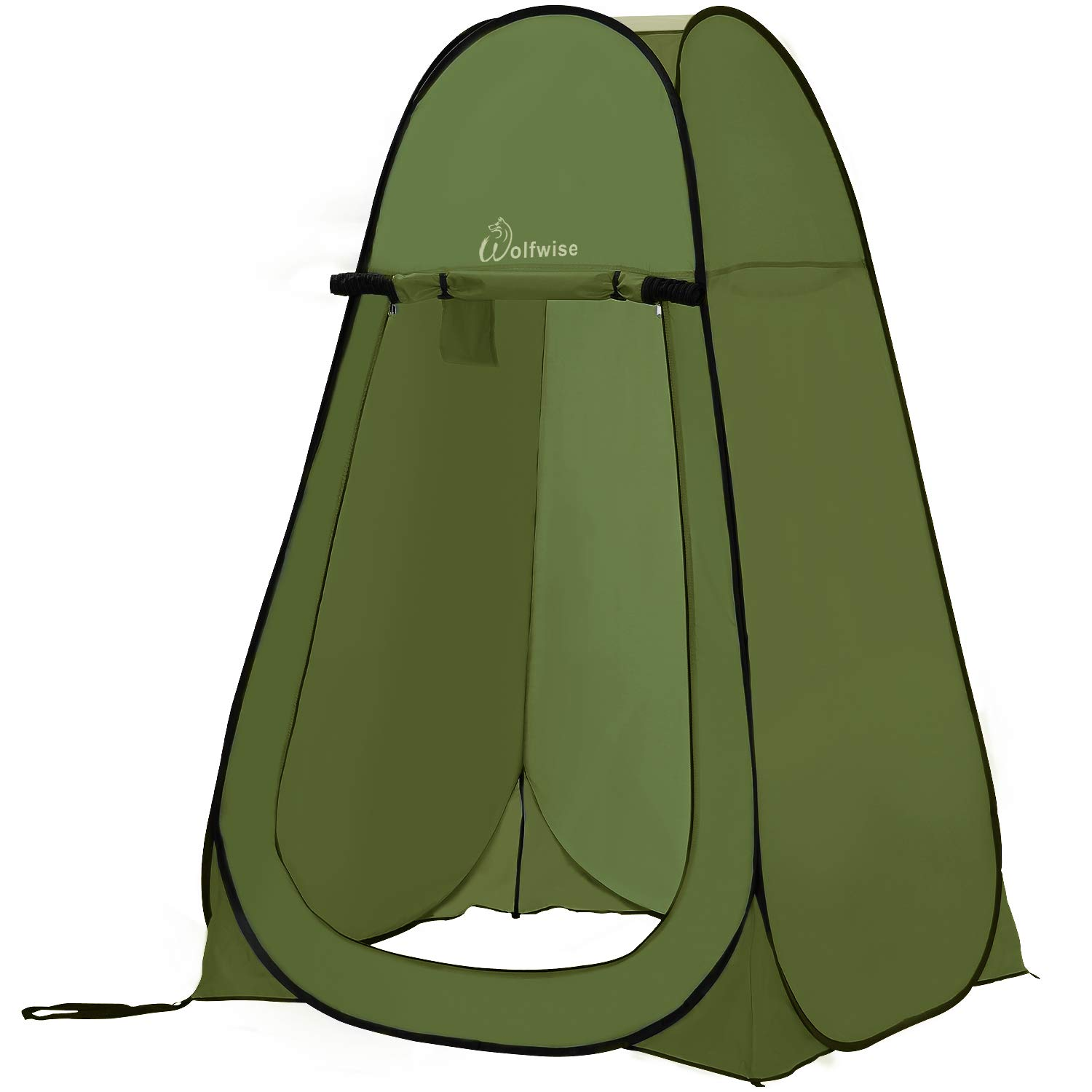 WolfWise Pop up Shower Tent Green