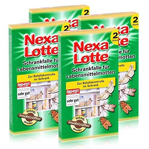 Preisvergleich Produktbild 4 x 2 (8 Stk.) Nexa Lotte Schrankfalle für Lebensmittelmotten,  insektizidfrei!