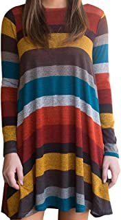 Womens Button Tunic Tops Casual Long Sleeve Pullover Blouse Sweatshirt
