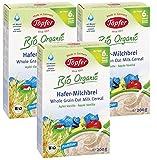 Töpfer Bio-Hafer-Milchbrei mit Apfel und Vanille, 3er Pack (3 x 200g)