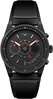 Luxury Men's Chrono Wrist Watch - Premium Italian Leather Watch Band - 42mm Chronograph Watch - Quartz Movement
