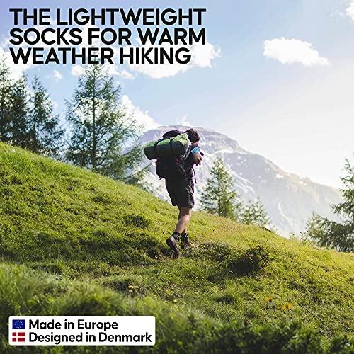 Merino Wool Light Hiking Socks (Multicolor 3-pairs (Grey, Green, Yellow), US Women 8-10 // US Men 6.5-8.5)