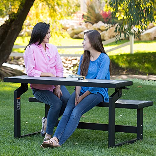 Lifetime 60253 Outdoor Convertible Bench, 55 Inch, Harbor Gray
