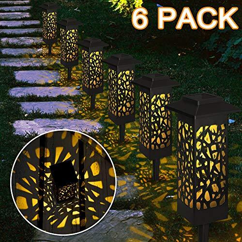 6 Stück Gartenleuchte Solar, Vegena Gartenbeleuchtung mit Erdspieß Solarleuchte Garten Gartenlampe IP65 Wasserdicht LED Wegbeleuchtung Solarlampen für Außen Terrasse Rasen Hinterhöfe Wege (#01)