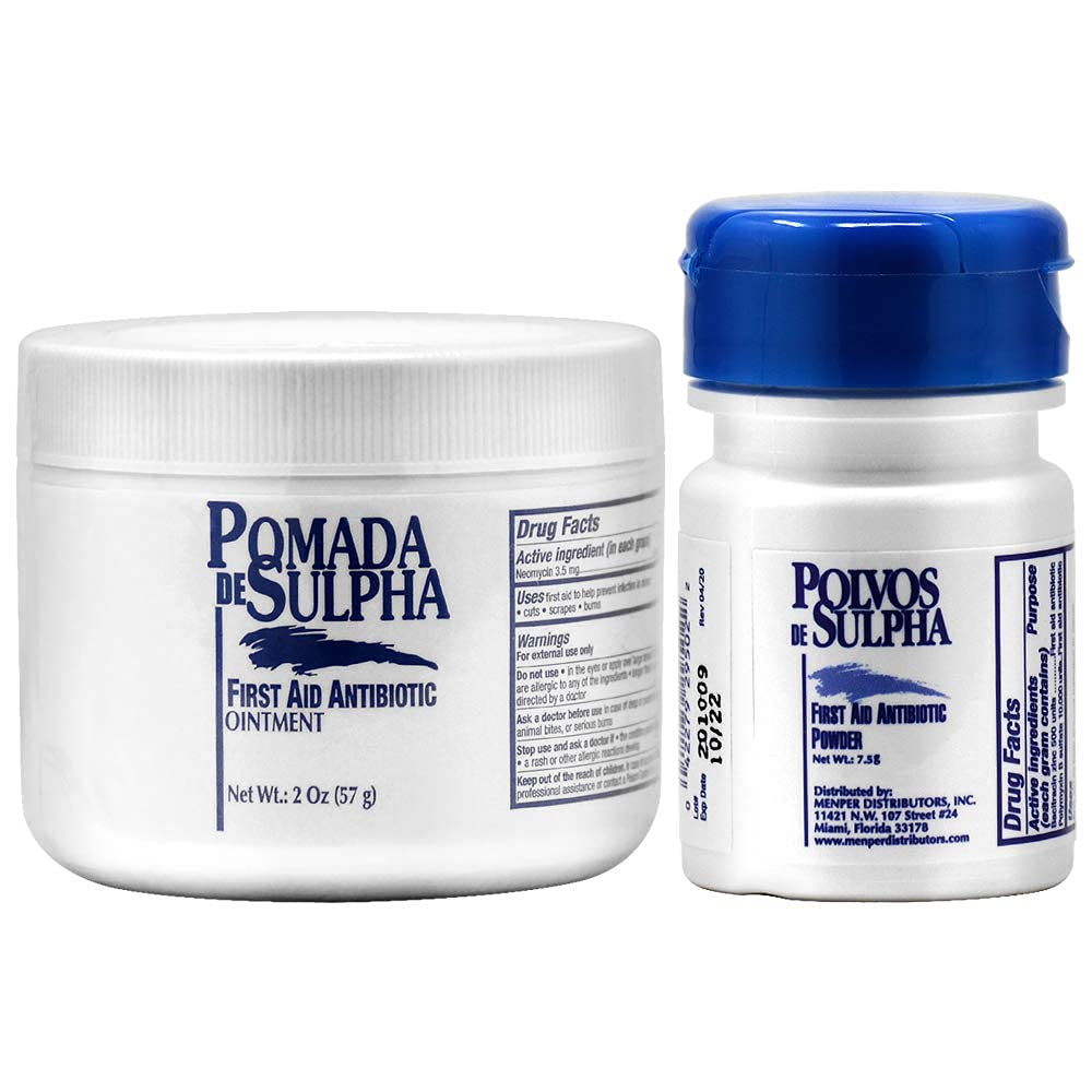 Polvos de Sulpha First Aid Antibiotic of Cheap sale Four Long-awaited Powder 2 Pie Pack