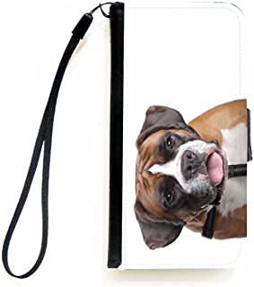 Rikki Knight Boxer Dog Design Flip Wallet iPhoneCase with Magnetic Flap for Apple iPhone 5c