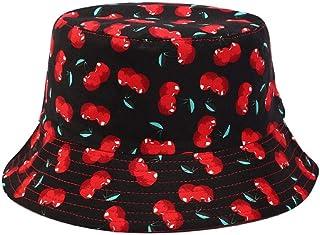 Gorro pescador Sombrero de pescador con Estampado de algodón para Hombres y Mujeres, Sombrero de cubo con pantalla de Cere...