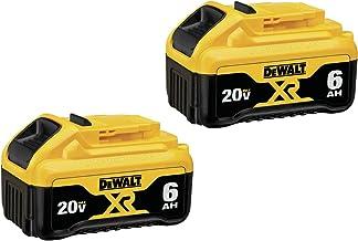 DEWALT (DCB206-2) 20V MAX Battery, Premium 6.0Ah Double Pack