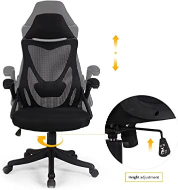 BERLMAN Ergonomic High Back with Adjustable Armrest Lumbar Support Headrest Swivel Task Desk Chair Computer Chair Guest Chair