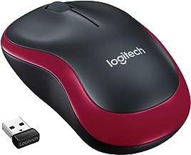 Logitech M185 schnurlos Maus (USB, kompatible mit Windows, Mac, Linux) red
